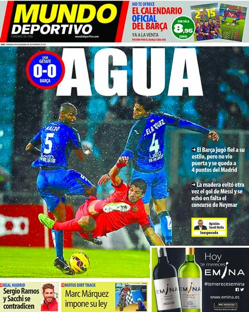Portada de Mundo Deportivo del 14 de Diciembre