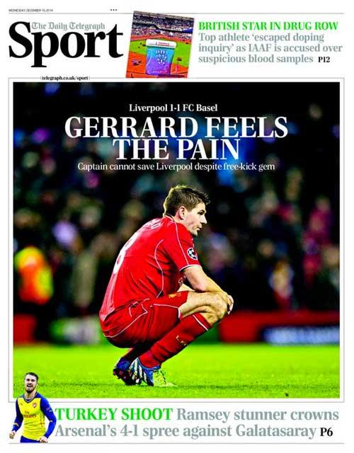 Portada de The Telegraph del 10 de Diciembre