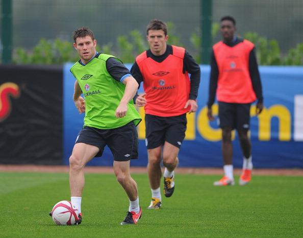James Milner y Michael Carrick entrenando con la selección inglesa | Getty Images