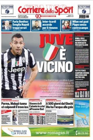 Portada Corriere dello Sport 20150303