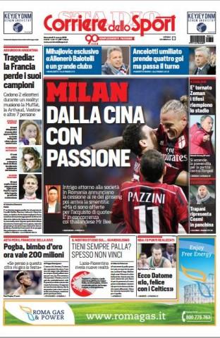 Portada Corriere dello Sport 20150311