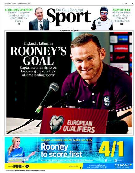 Portada Daily Telegraph 20152703