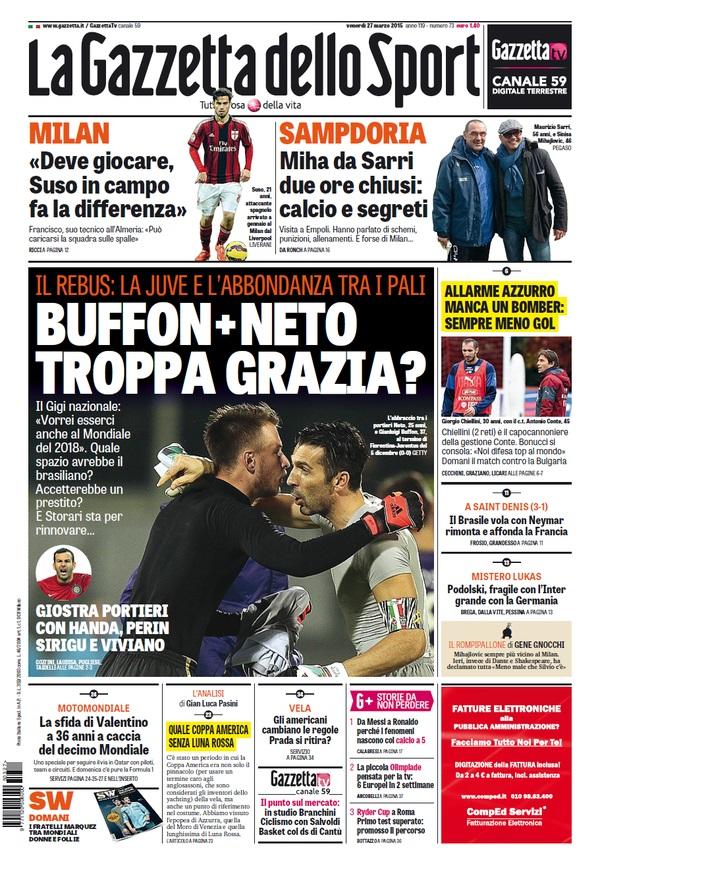 Portada Gazzetta 20152703
