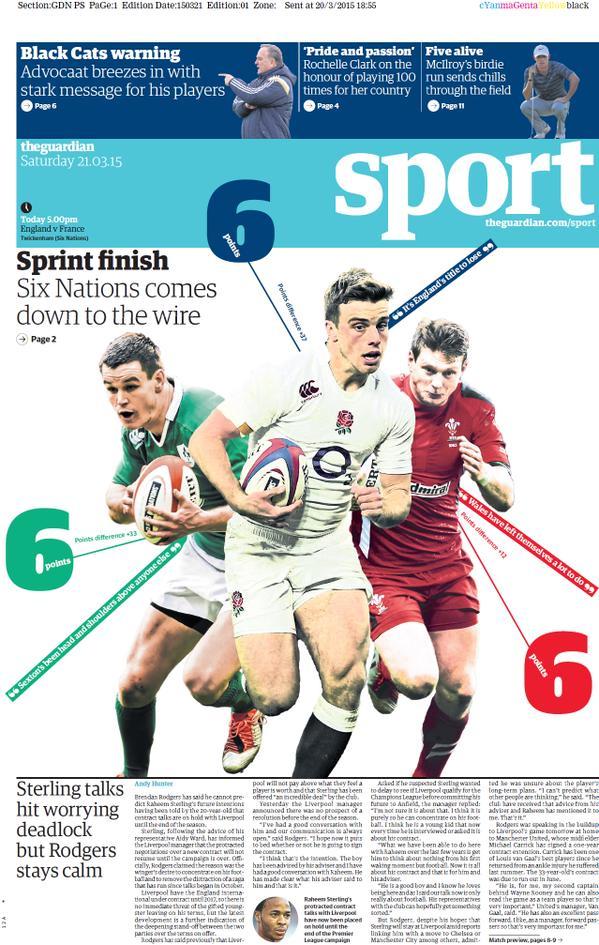 Portada de The Guardian del 21 de marzo de 2015