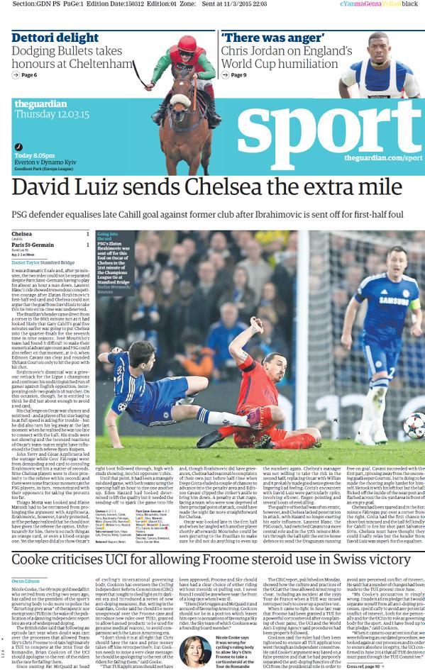 The Guardian Sport PORTADA