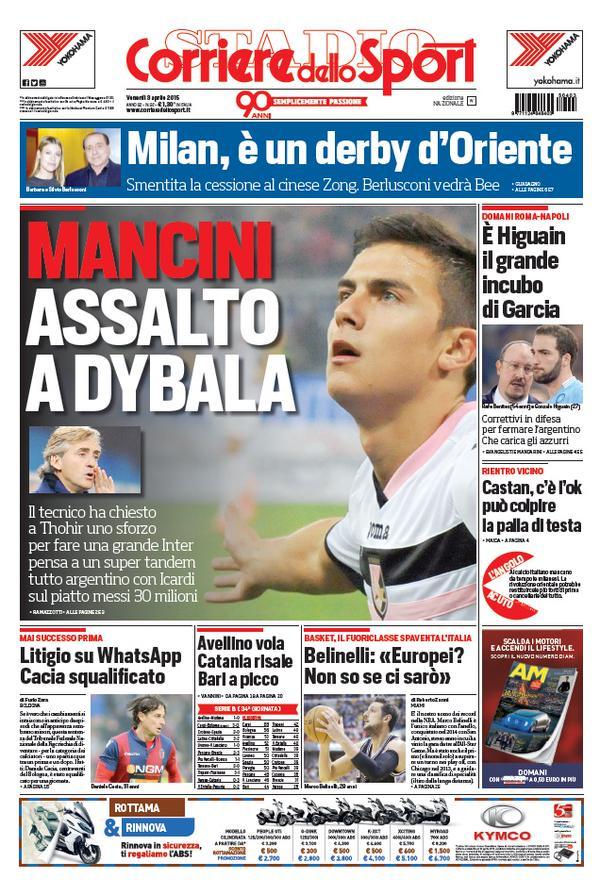 Portada Corriere 20150304