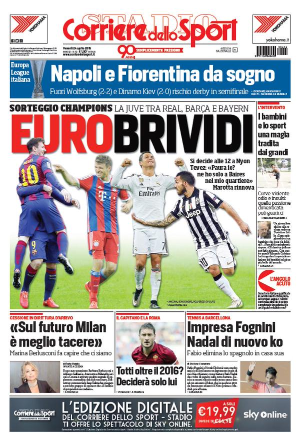 Portada Corriere 20150424