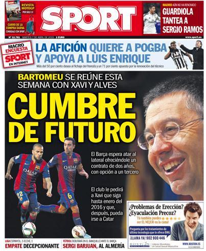 Portada Sport 7 de abril de 2015