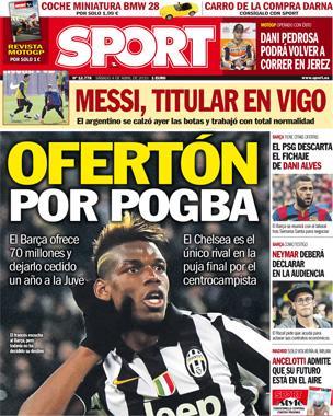 Portada Sport del 4 de abril de 2015