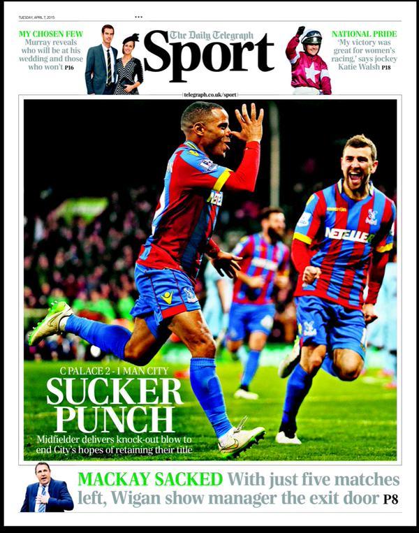 Portada Telegraph 7 de abril de 2015