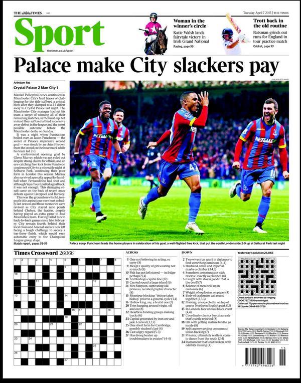 Portada The Times 7 de abril de 2015