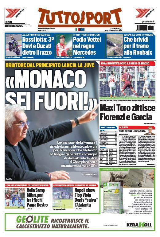 Portada Tuttosport 20151304