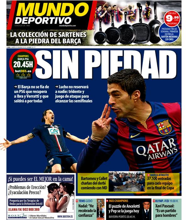 Portada de Mundo Deportivo del 21 de abril de 2015