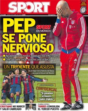 Portada de Sport del 30 de abril de 2015