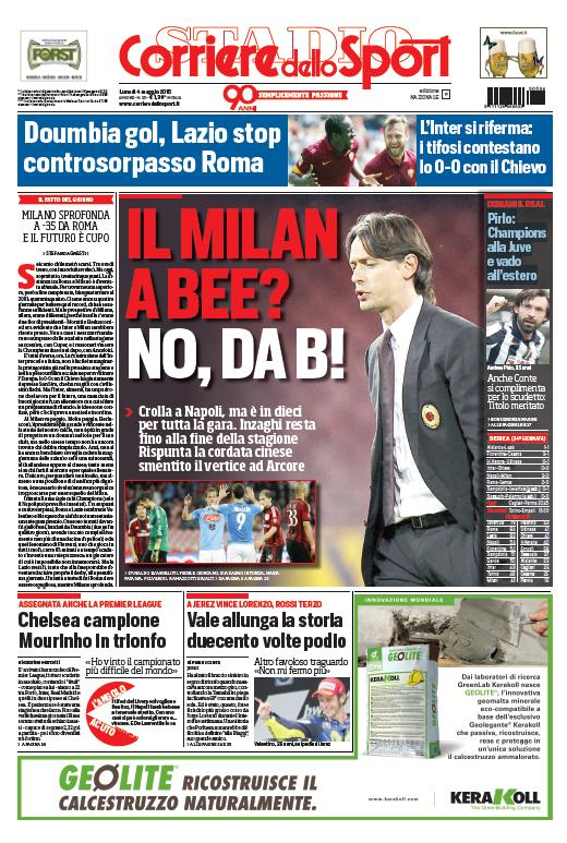 Portada Corriere 20150405