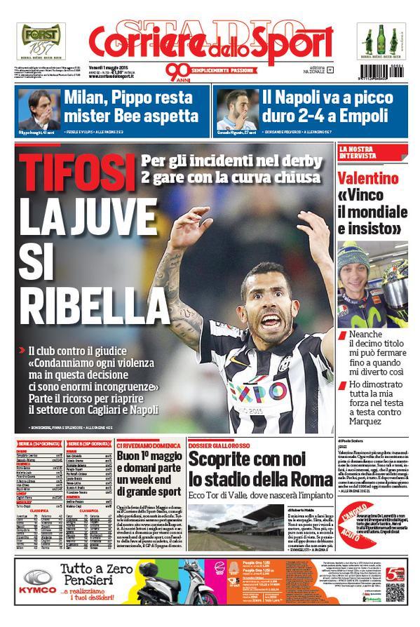 Portada Corriere 20150501