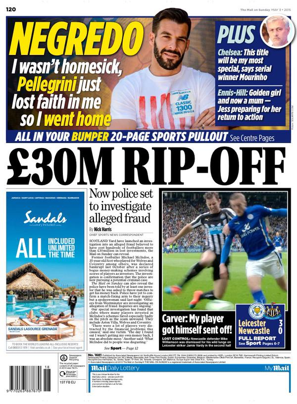 Portada Daily Mail 20150305