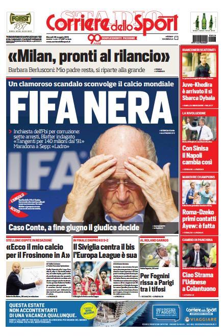 Portada de Corriere dello Sport del 28 de mayo de 2015