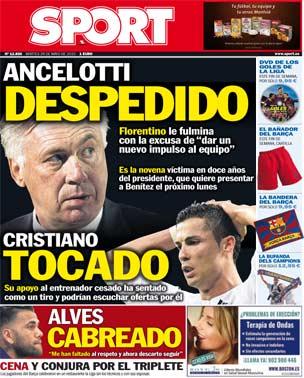 Portada de Sport del 26 de mayo de 2015