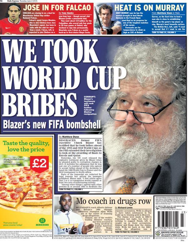 Portada de Daily Express del 4 de junio de 2015
