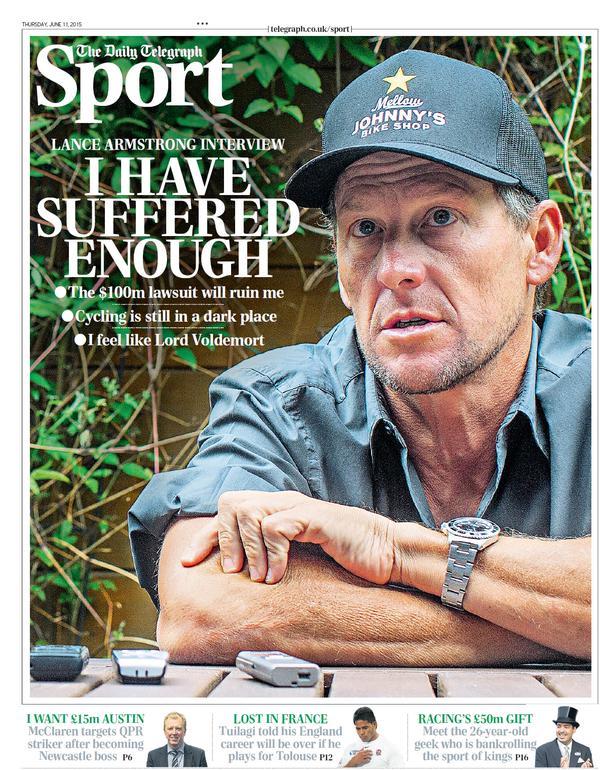 Portada de Daily Telegraph del 11 de junio de 2015
