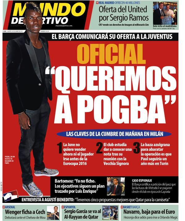 Portada de Mundo Deportivo del 30 de junio de 2015