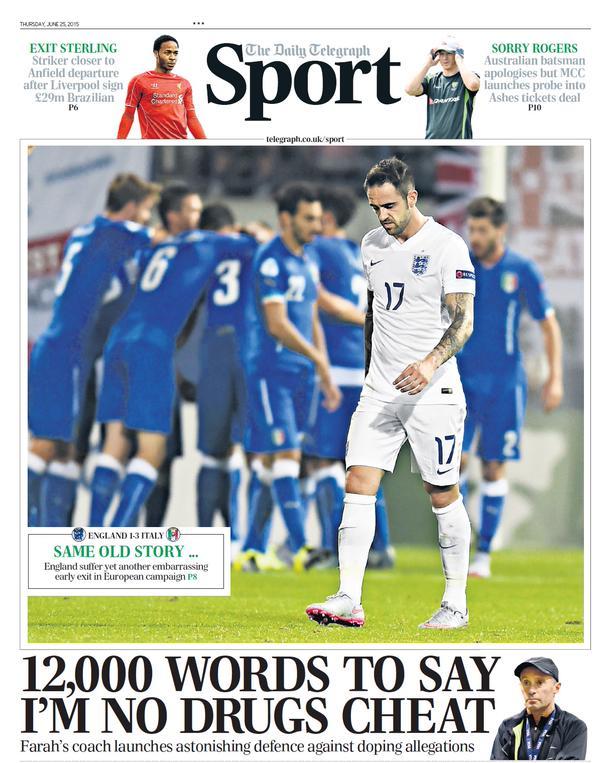 Portada de The Telegraph del 25 de junio de 2015