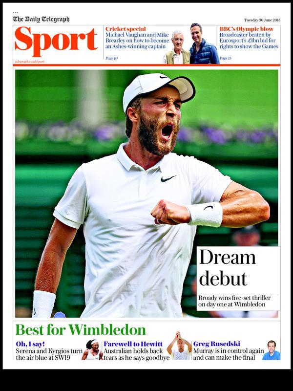 Portada de The Telegraph del 30 de junio de 2015