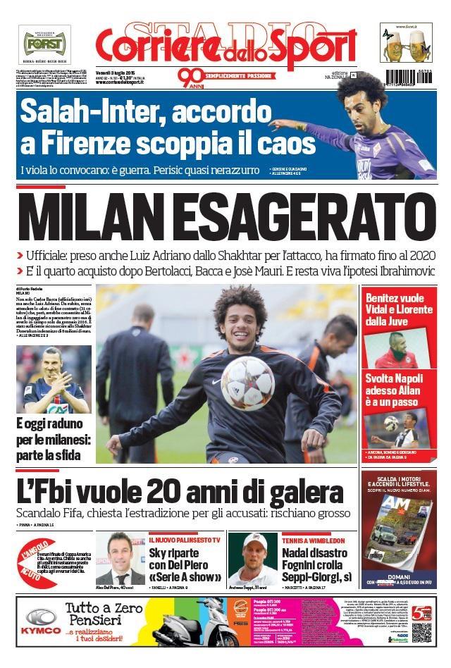 Portada Corriere 20150307