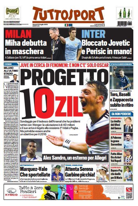 Portada Tuttosport 20150710