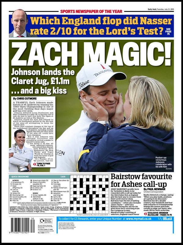 Portada de Daily Mail del 21 de julio de 2015