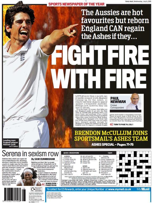 Portada de Daily Mail del 8 de julio de 2015