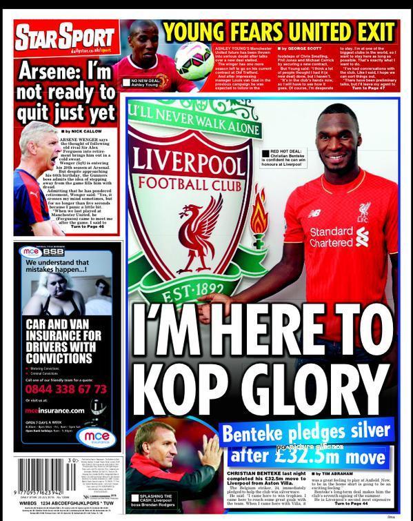 Portada de Daily Star del 23 de julio de 2015