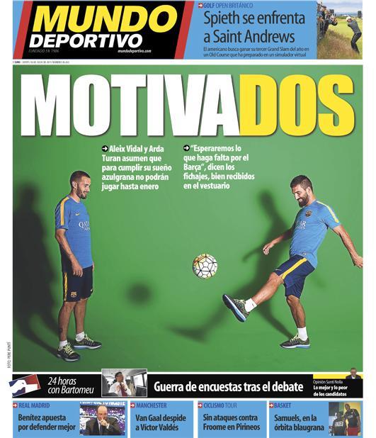 Portada de Mundo Deportivo del 16 de julio de 2015