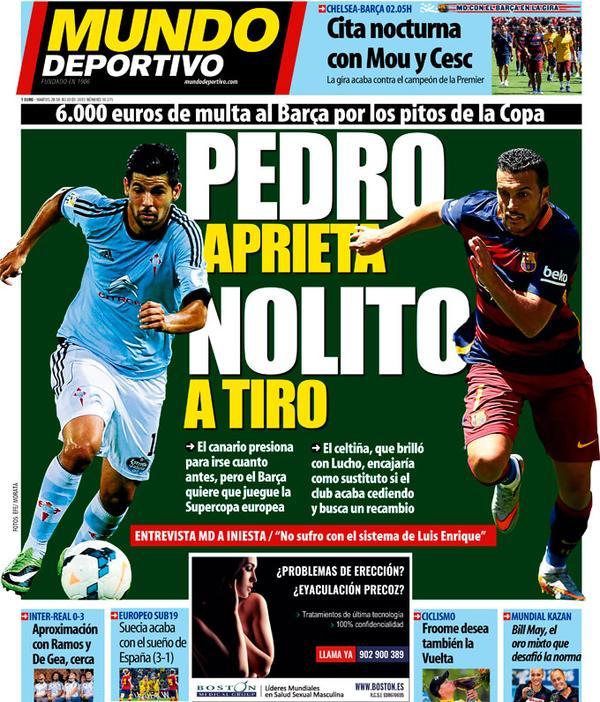 Portada de Mundo Deportivo del 28 de julio de 2015