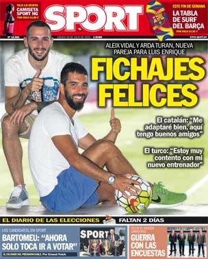 Portada de Sport del 16 de julio de 2015