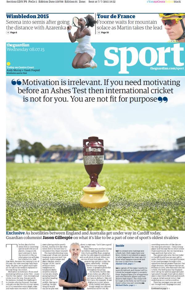 Portada de The Guardian del 8 de julio de 2015