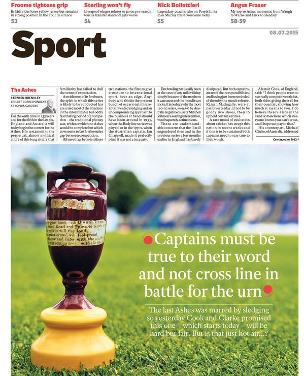 Portada de The Independent del 8 de julio de 2015