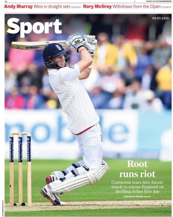 Portada de The Independent del 9 de julio de 2015