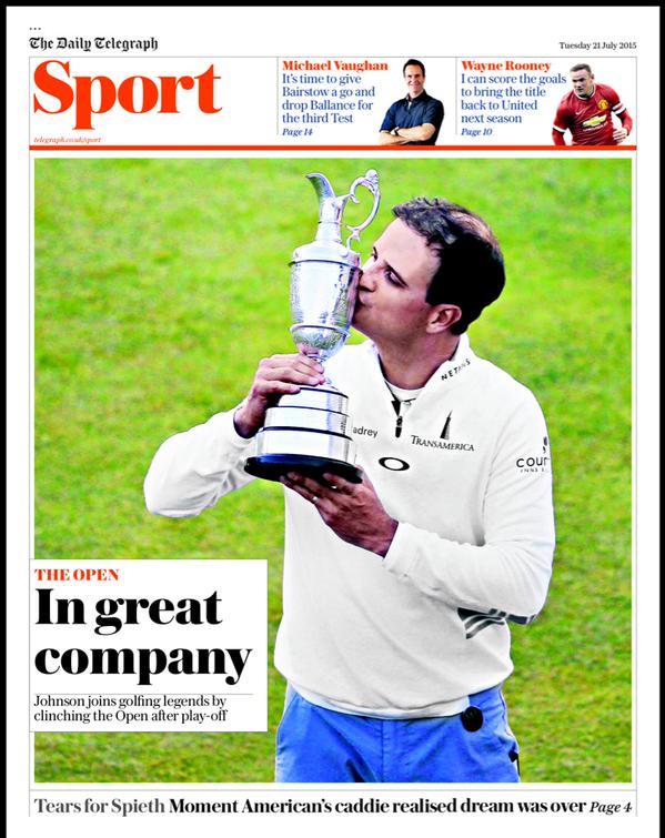 Portada de The Telegraph del 21 de julio de 2015