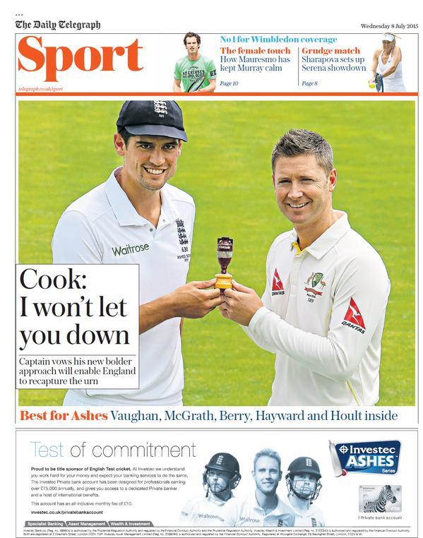 Portada de The Telegraph del 8 de julio de 2015