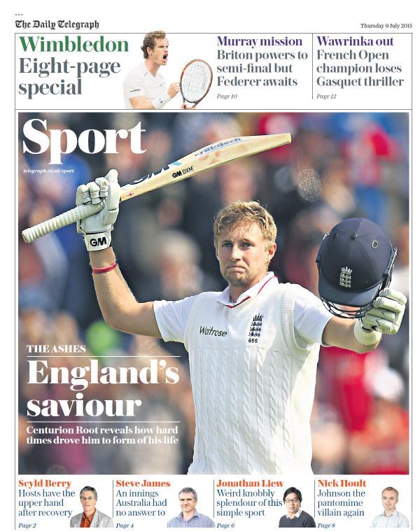 Portada de The Telegraph del 9 de julio de 2015