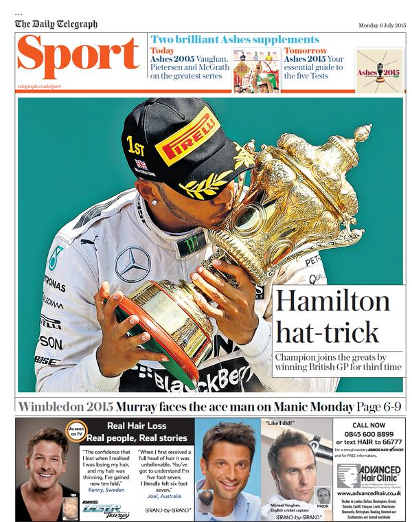 Portada del Telegraph del 6 de julio de 2015
