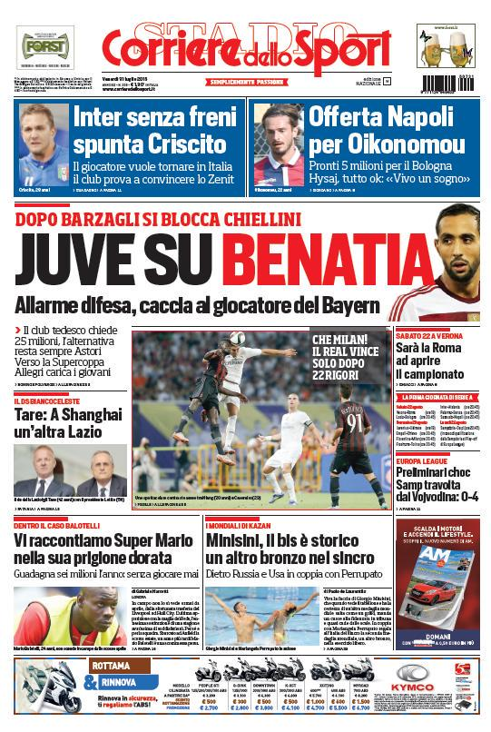 portada-de-corriere-dello-sport-del-31-de-julio-de-2015