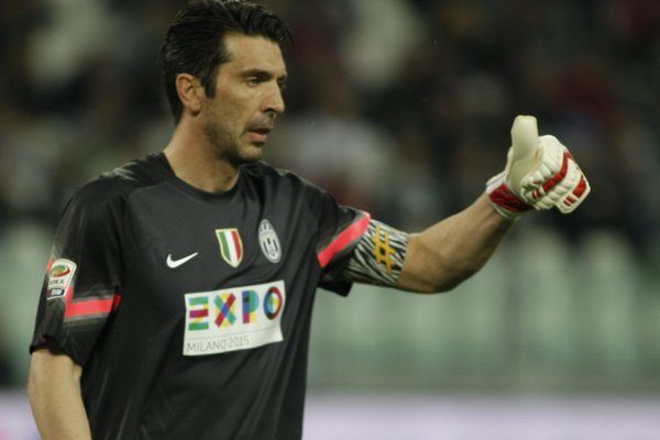 Gigi Buffon during the serie A match between Juventus FC and ACF Fiorentina at the Juventus Stafium of Turin on april 29, 2015 in Turin, Italy. (Photo by Loris Roselli/NurPhoto) (Photo by Loris Roselli/NurPhoto) No third party sales.