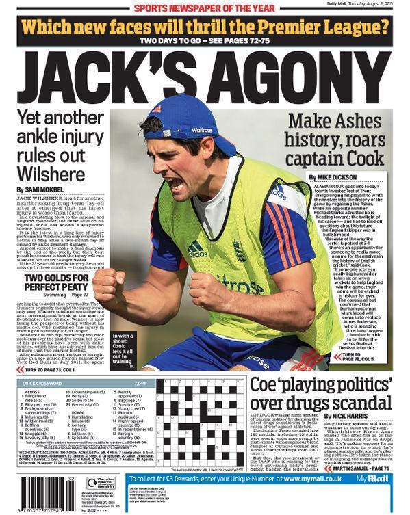 Portada de Daily Mail del 6 de agosto de 2015