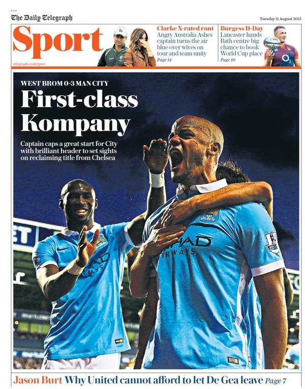 Portada de Daily Telegraph del 11 de agosto de 2015