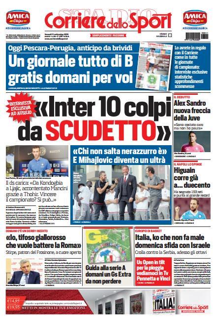 Portada Corriere 20150911
