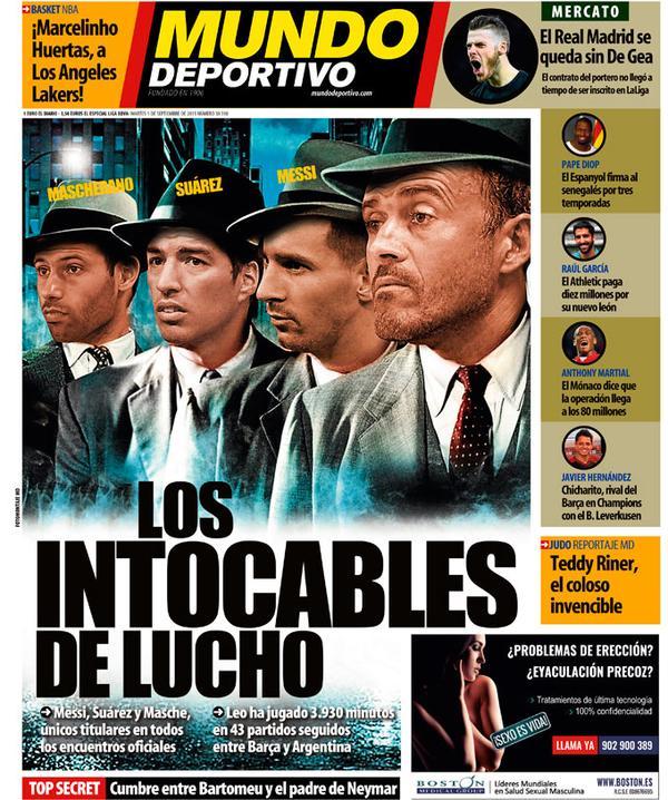 Portada de Mundo Deportivo del 1 de septiembre de 2015