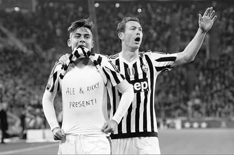 Paulo Dybala, dedicatoria de su gol. | Imagen vía @juventusfc